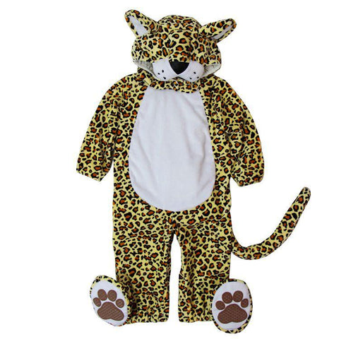 Hooded Leopard Cotton Costume Set