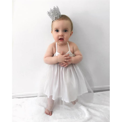 White Summer Dress Baby Girl Lovely Outfit