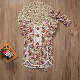 Short Sleeve Floral Baby Outfit Set