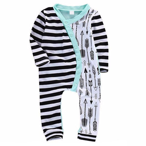 Arrows With Stripes Baby Boy Jumpsuit
