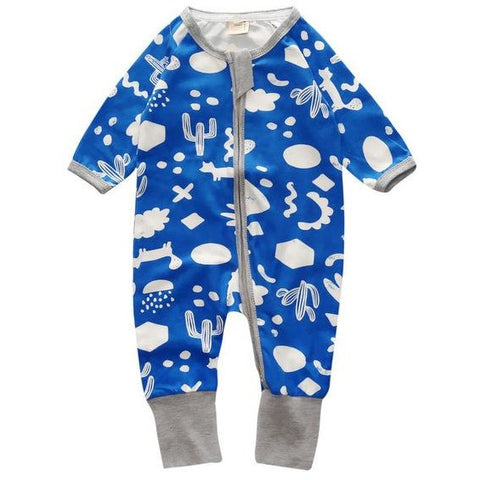 Lovely Cartoons Logo Baby Boy Jumpsuit