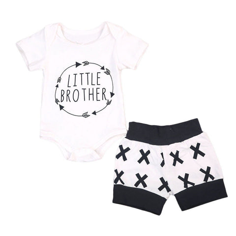 Little Brother Arrows In Circle Baby Outfit Set