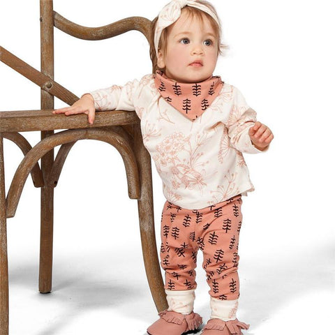 Long Sleeve Shirt & Trousers Baby Girl Casual Set