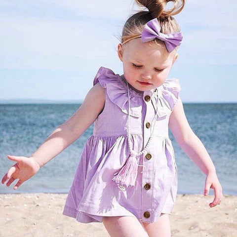 Purple Summer Dress Baby Girl Outfit