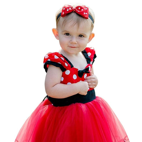 Lovely Baby Girl Dress Red Polka Dot Outfit