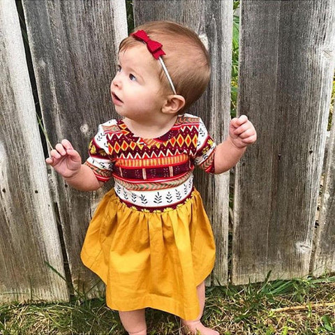 Long Sleeve Baby Girl Dress Outfit