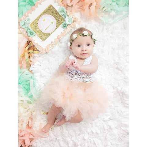 Lovely White & Pink Dress Baby Girl Summer Outfit