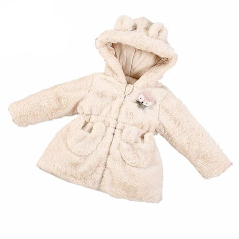 Lovely Winter Jacket Baby Girl Beige Outfit