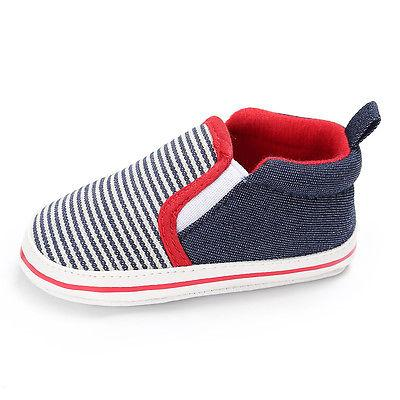 Striped Soft Canvas Sneakers