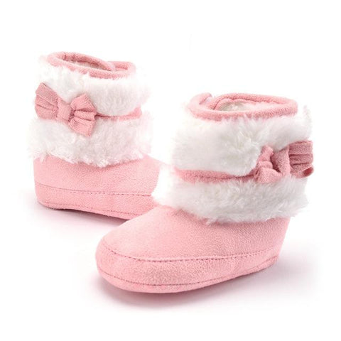 Hand-Made Bowknot Fleece Snow Boots
