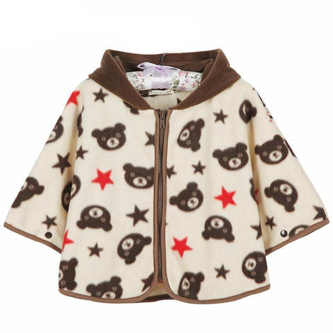 Lovely Bears Logo Jacket Baby Girl Winter Outfit