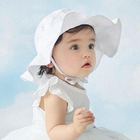 Sweet White Baby Girl Hat