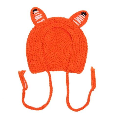 Lovely Fox Baby Girl Knit Hat