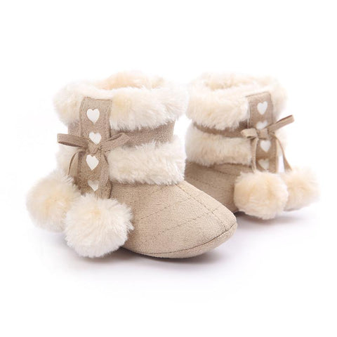 Crochet Suede Fleece Boots