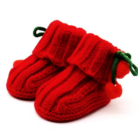 Knitted Cherry Socks