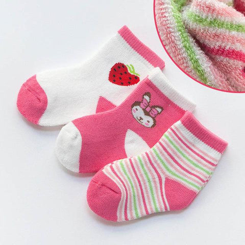 3 Pair/lot Christmass Cotton Socks