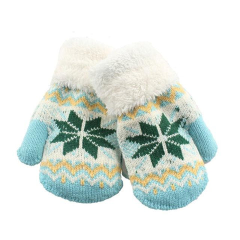 Snowflake Winter Knitted Gloves