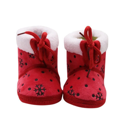 Red Snow Embroidery Boots