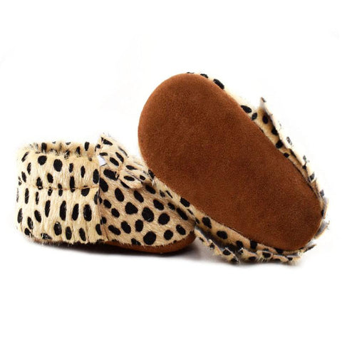 Soft Leopard Toddler Moccasins
