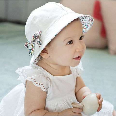 Floral Bowknot Cute Baby Girl Hat