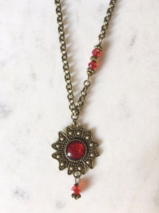 Pair this beautiful necklace with the Flower earrings or wear it by itself!