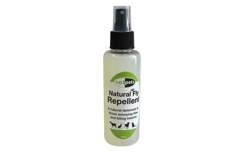 Bottle of natural fly repellent
