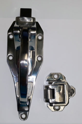 503 Lock Polished Stainless Refrigeration Lock