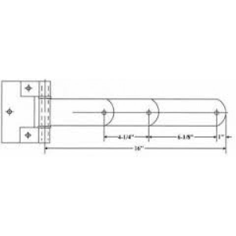 Polar 716-Ss Stainless Steel Heavy Duty Hinge