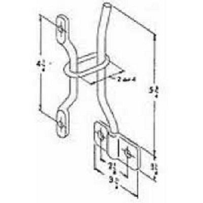 Polar Hardware Door Hold Back 55-100 Post