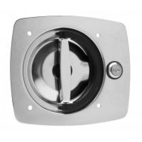 D-Ring Lock E9010 1 Point Stainless Twist Action Flush Mount