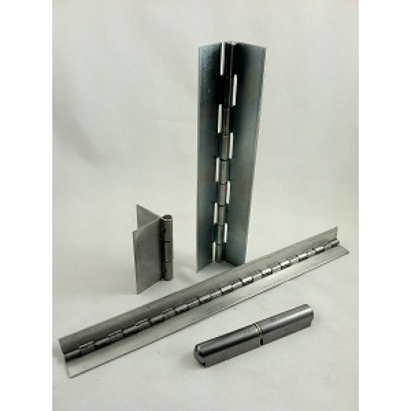 "Continuous Hinge Chss074032x24   24"" Lengths   2"" Open  Stainless"