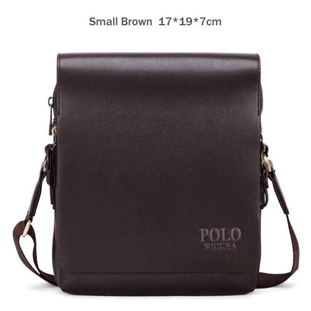 VICUNA POLO New Arrival Fashion Business Leather Men Messenger Bags Promotional Small Crossbody Shoulder Bag Casual Man Bag