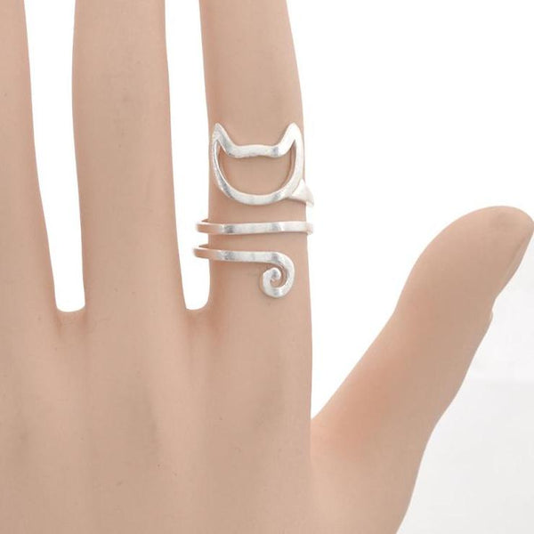 Adjustable Stainless Steel Cat Ring