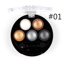Metallic Eyeshadow Palette with Applicator - 5 Shades