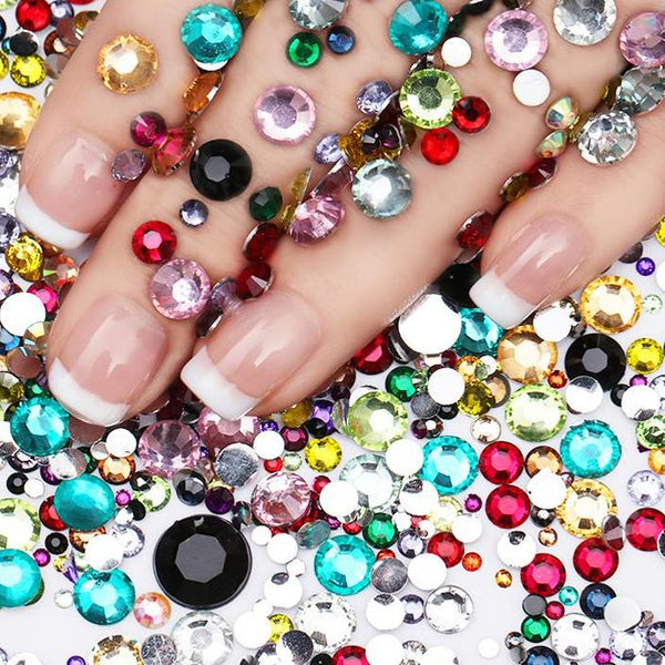 2000 Pieces/Bag Sparkling Rhinestone Nail Studs