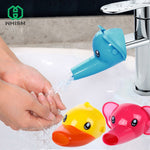 WHISM Silicone Cute Animal Sink Tap Toddler Extender Wash for Kids Children Hand Washing Bathroom Kitchen Water Faucet Extension
