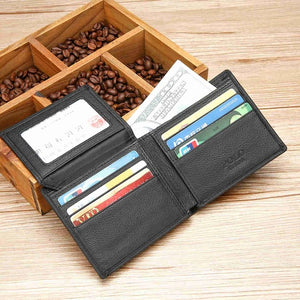 RFID Blocking Leather Wallet for Men