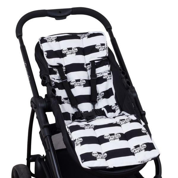 Disney Pram Liner - Peekaboo Mickey Stripes