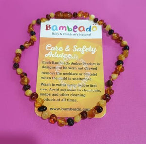 Bambeado Baltic Amber Teething Necklace