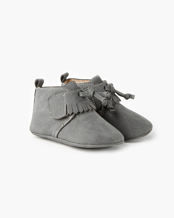 Walnut Oates Tassel Boot Grey