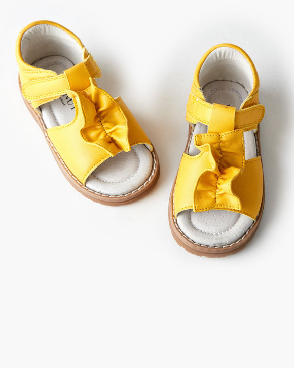 Walnut Becky Sandal Primrose Yellow