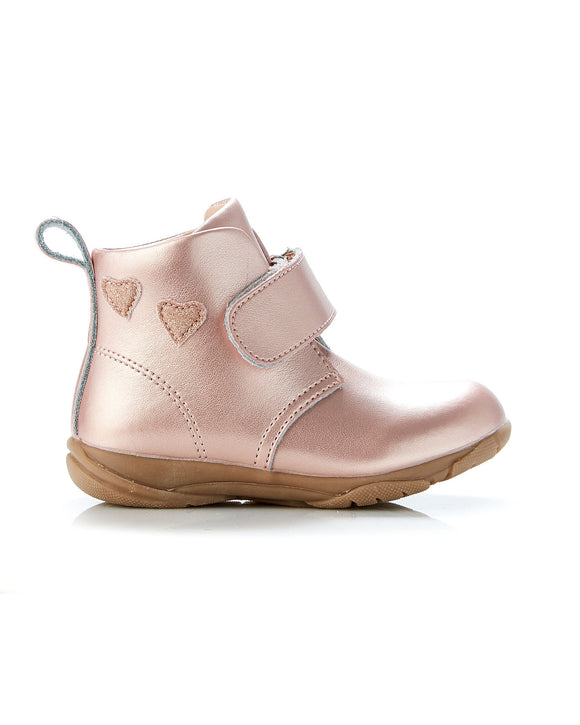 Walnut Rover Heart Boot Rose Gold