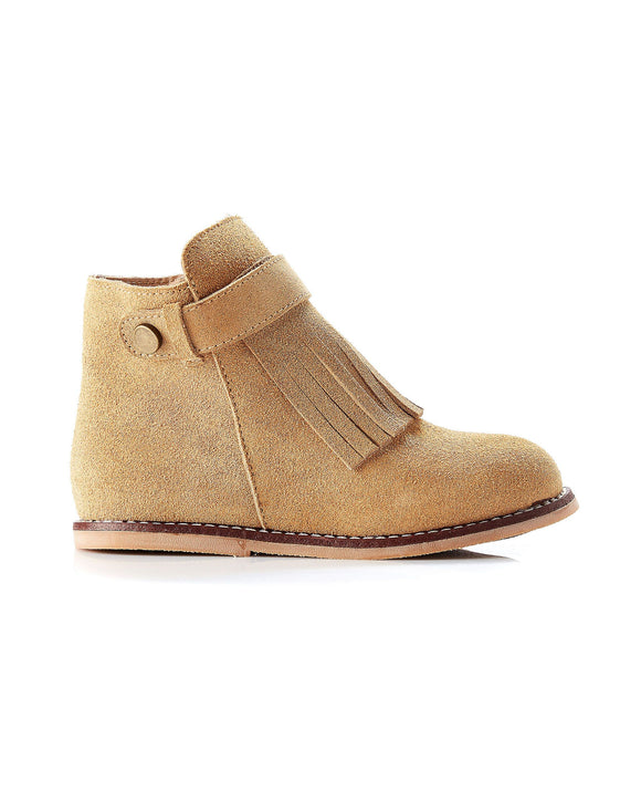 Walnut Becky Fringe suede Boot Tan
