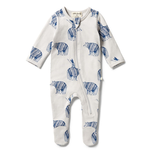 Wilson & Frenchy Organic zipsuit with feet Little Adventures