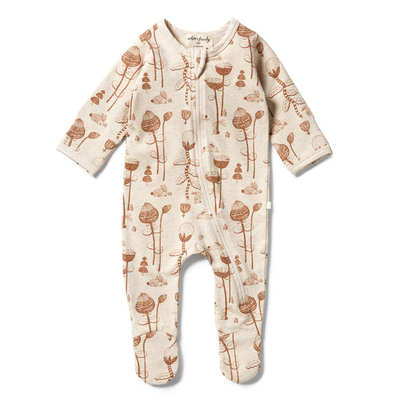 Wilson & Frenchy Organic zipsuit with feet Bunny Hop