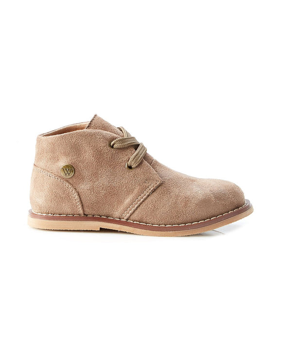 Walnut Beau Desert boot Taupe Suede