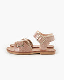 Walnut Ryder Sandal Rose Jelly Glitter