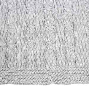 Korango Cables and Class Knit blanket grey