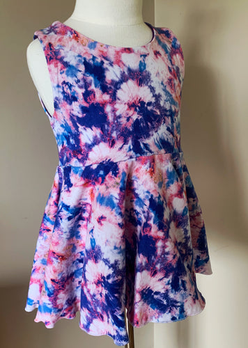 Grape Punch Tie Dye Peplum Shirt