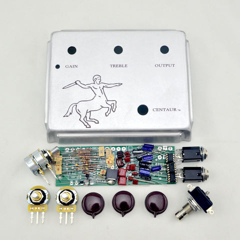 FineTone DIY Silver Klon Centaur Professional Overdrive Guitar Effects Pedal Kit